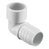 Insert Adapter 90° Ell - PVC White